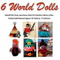 6 World Mini Knit Dolls