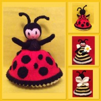 Lily-Ladybug & May-Bee Knitting Pattern (PDF or PRINTED)