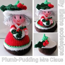 Plum Pudding Mrs Claus (PDF emailed)