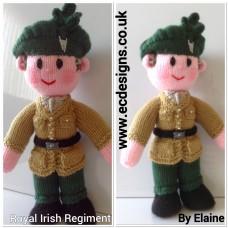 Royal Irish Regiment Doll Knitting Pattern by Elaine