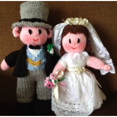Bride & Groom Toy Knitting Pattern