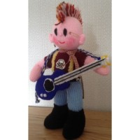 The Rock Band - Guitarist Toy Knitting Pattern