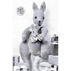 The Mother & Baby Kangaroo vintage Knitting Pattern