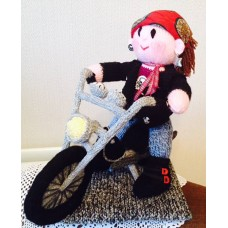 The Rocker & Motorcycle Toy Knitting Pattern (Professionally Printed)