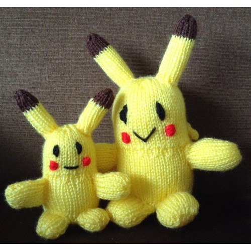 Pokémon Pikachu PDF Knitting Pattern