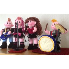 The Rock Band Toy Knitting Pattern (professionally printed)