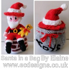 Santa in a Bag Knitting Pattern (PDF emailed)